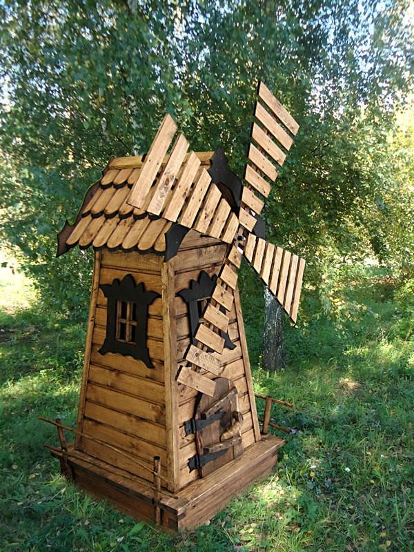 Своими руками из дерева декоративная мельница