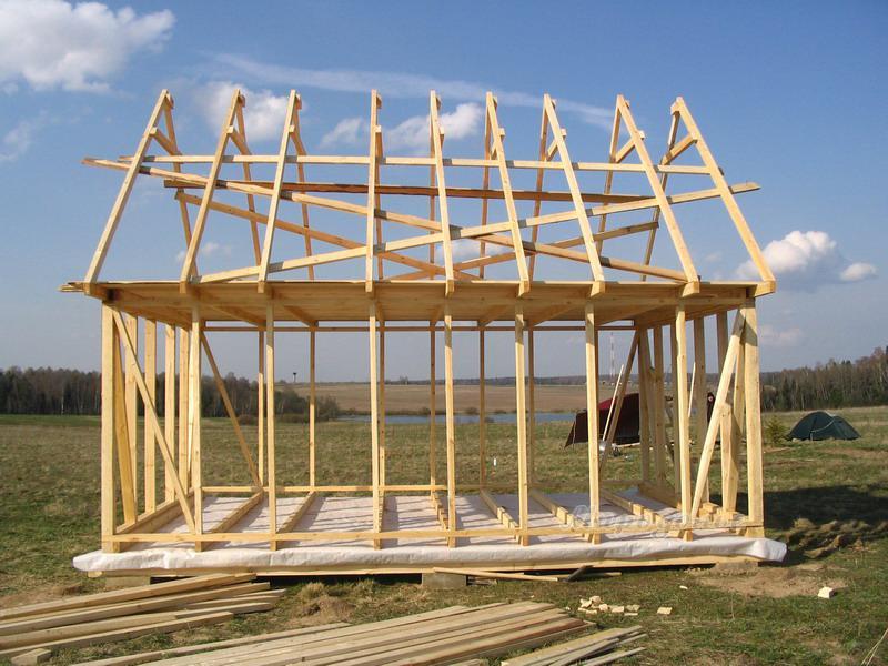 Видео построить каркасный дачный дом своими руками