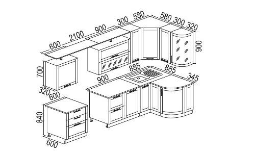 Кухонный гарнитур своими руками чертежи и схемы, фото и