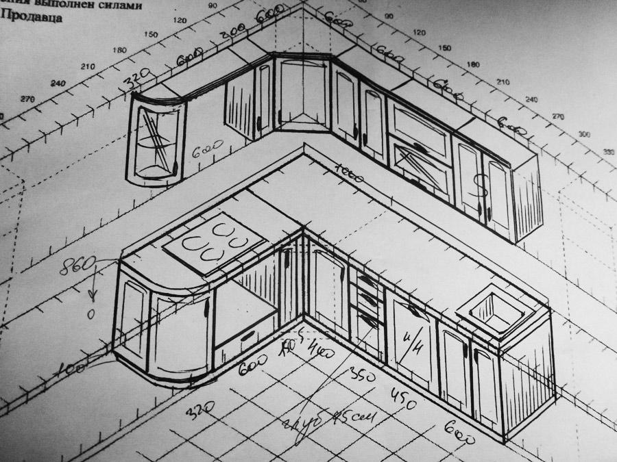 Сделать своими руками кухонный гарнитур чертежи и схемы 75