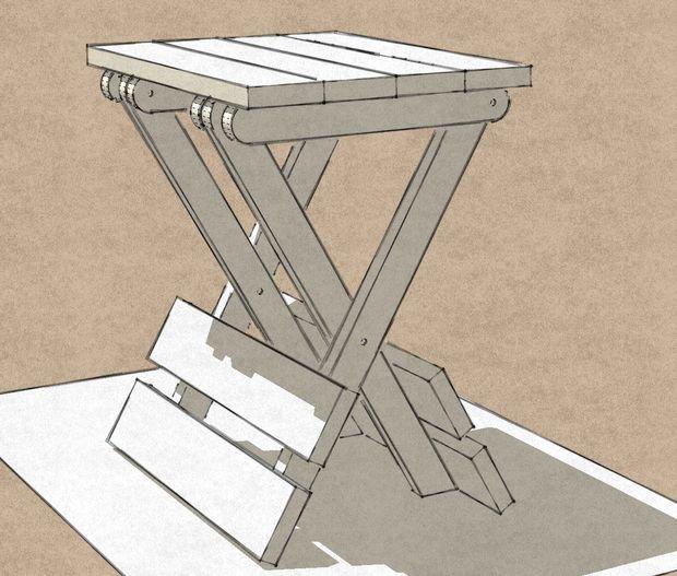 Раскладной стол из ткани своими руками