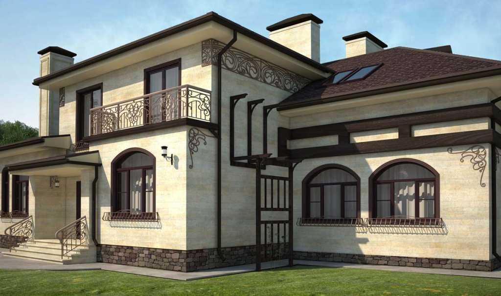 Отделка фасада дома из газобетона фото