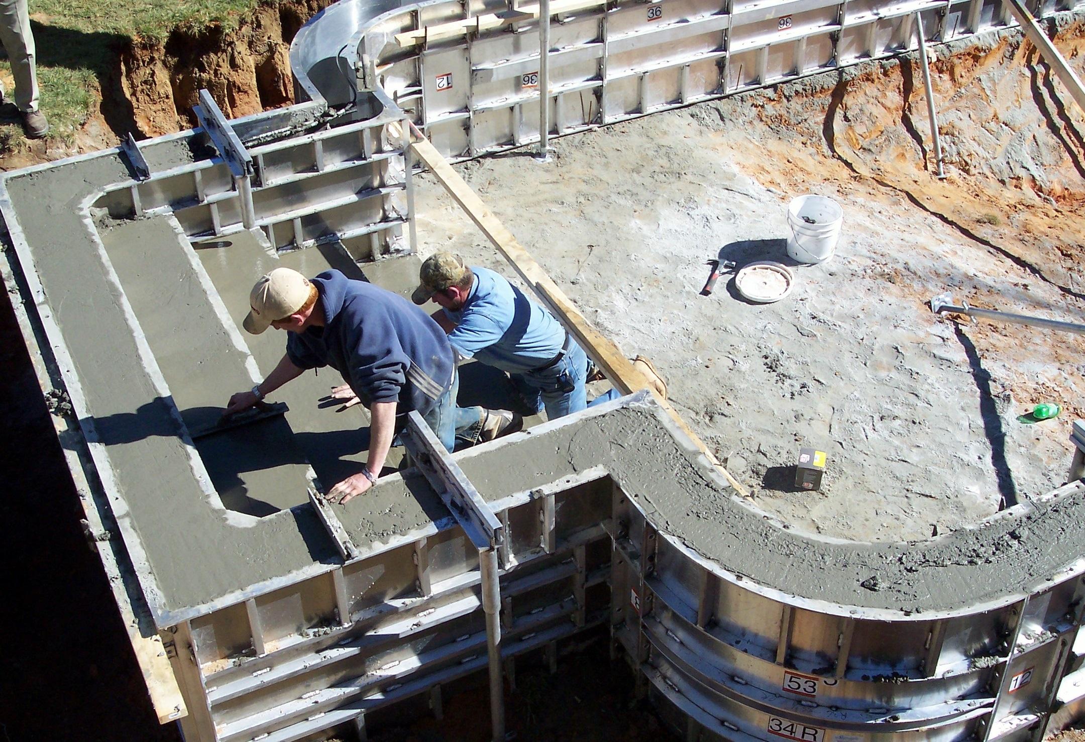 Как сделать стены из бетона