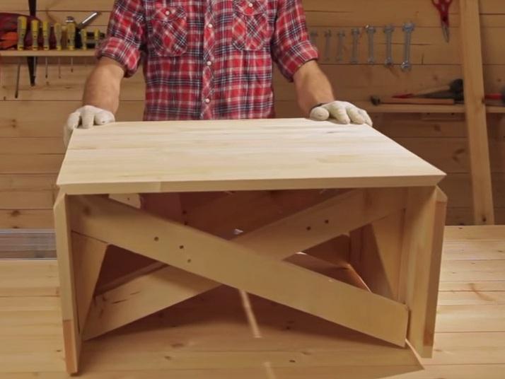 Простейший раскладной стол своими руками 98