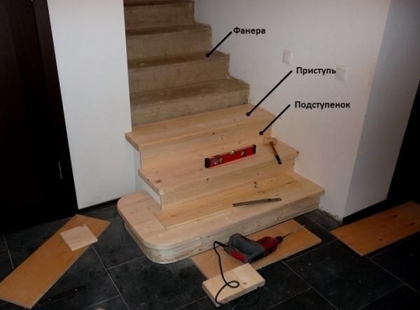 Обшивка деревом бетонной лестницы своими руками видео