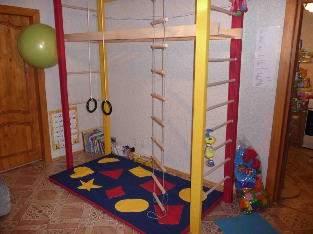 Домашние спортивные комплексы для детей фото