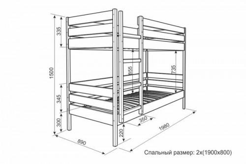 Кровать для ребенка из дерева чертежи