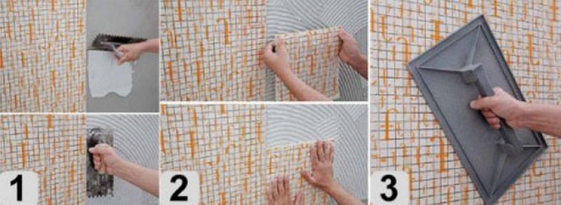 Укладка плитки своими руками мозаика