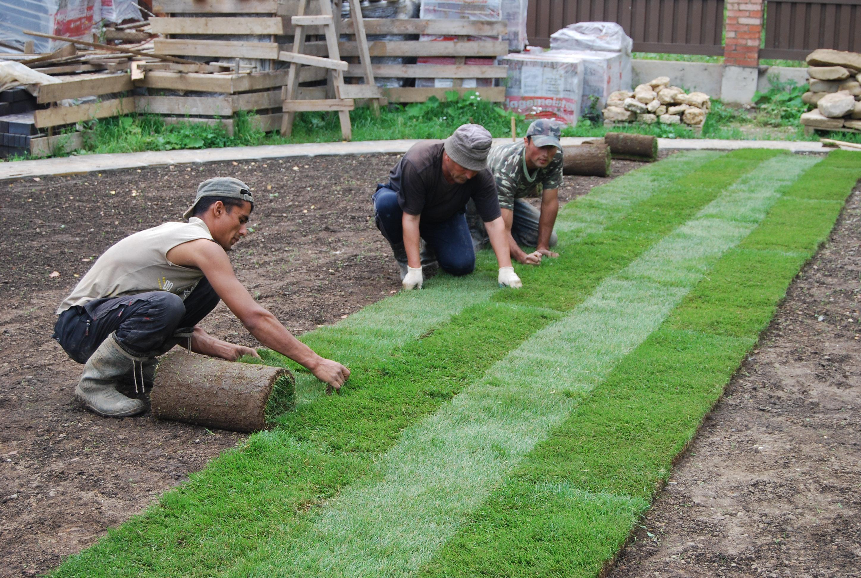 Крепление искусственного газона своими руками