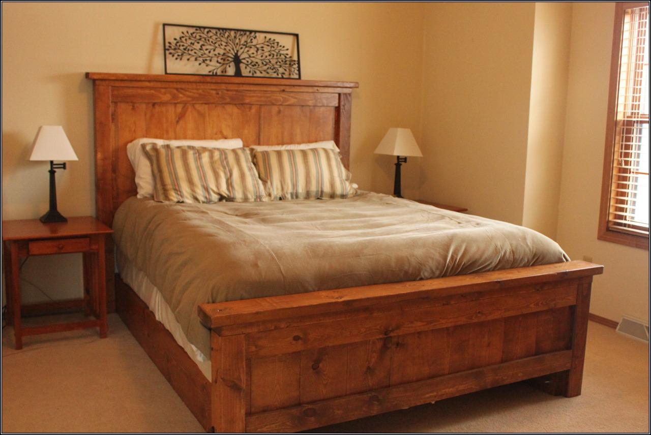 Кровать двуспальная из дерева своими руками фото