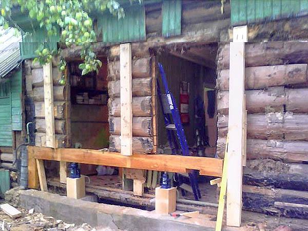 Ремонт нижних венцов деревянного дома своими руками 53