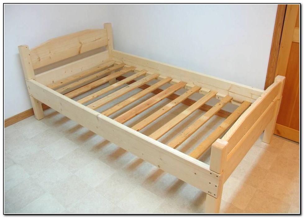 Односпальная кровать своими руками из дерева
