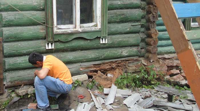Как заменить нижний венец у сруба - Pylondance.ru