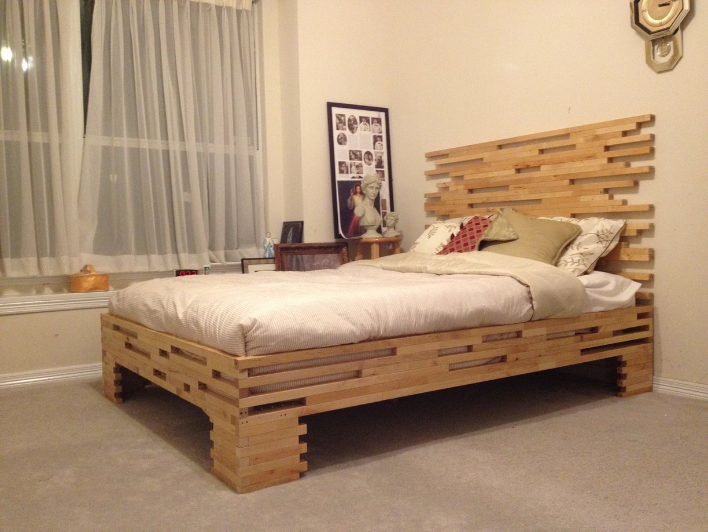 Как сделать двуспальную деревянную кровать своими руками