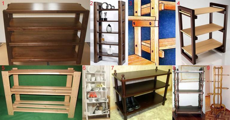 Этажерка для цветов и обуви своими руками. Инструкция по изготовлению самодельной этажерки. Изготовление этажерки для обуви и цв