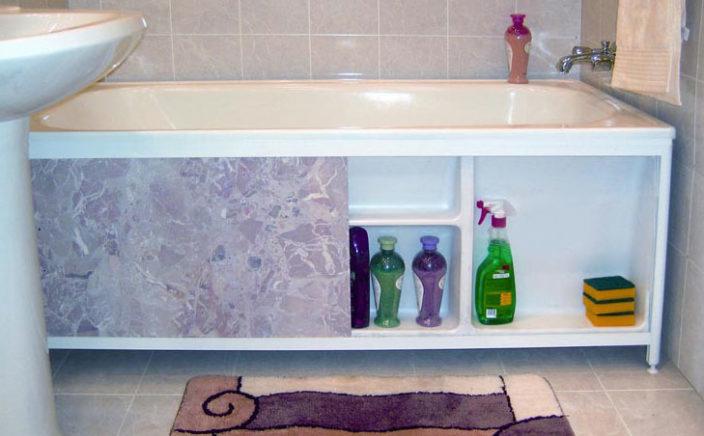 Как закрыть ванну снизу своими руками панелями пвх